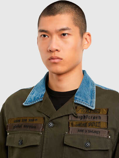 Diesel - S-COVIL, Military Green - Shirts - Image 3