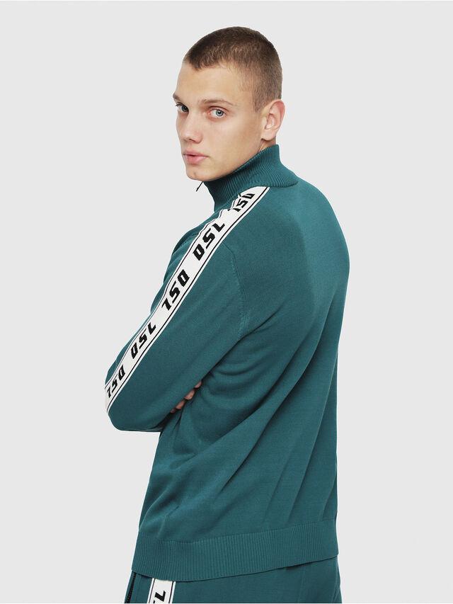 Diesel - K-KER-A, Dark Green - Knitwear - Image 2