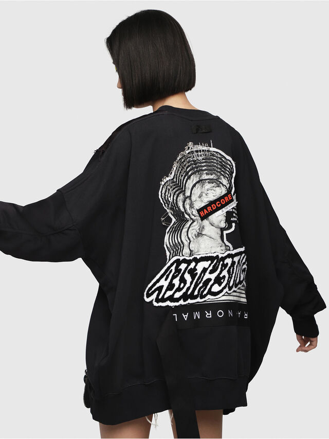Diesel - F-TARAP-A, Black - Sweaters - Image 2