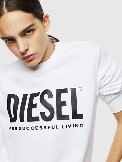 Diesel - S-GIR-DIVISION-LOGO, White - Sweaters - Image 6