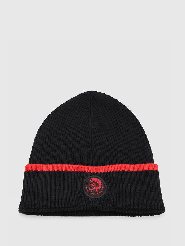Diesel - DVL-BANY-CAPSULE, Black/Red - Knit caps - Image 1