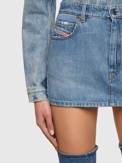 Diesel - DE-EISY, Light Blue - Skirts - Image 4