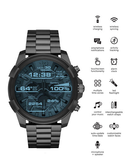 Diesel - DT2004, Metal Grey - Smartwatches - Image 1
