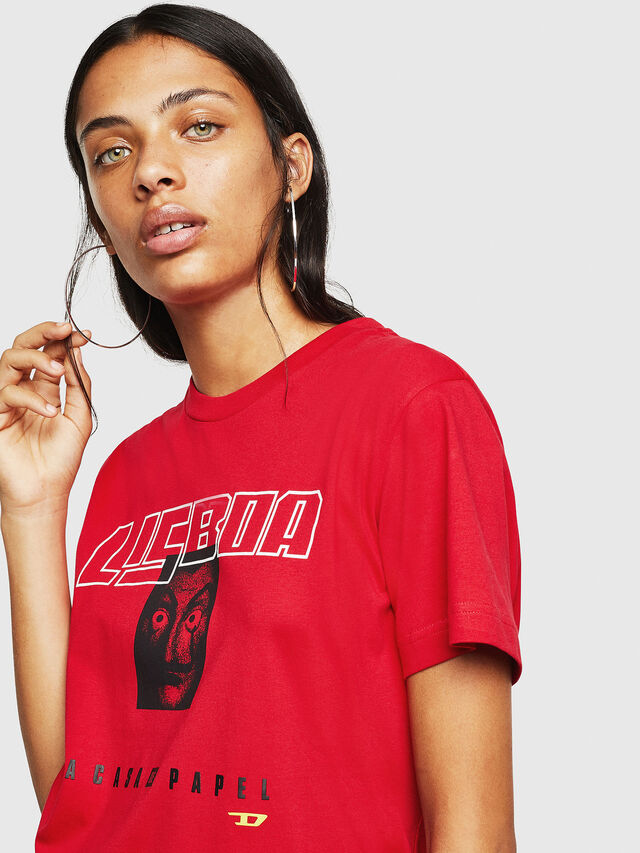 Diesel - LCP-T-DIEGO-LISBOA, Red - T-Shirts - Image 5