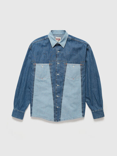 Diesel - DxD-SHIRT, Medium blue - Denim Shirts - Image 1