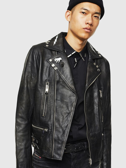 Diesel - L-GOTIV-A, Black - Leather jackets - Image 6