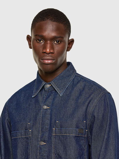 Diesel - D-RAPP, Dark Blue - Denim Shirts - Image 3