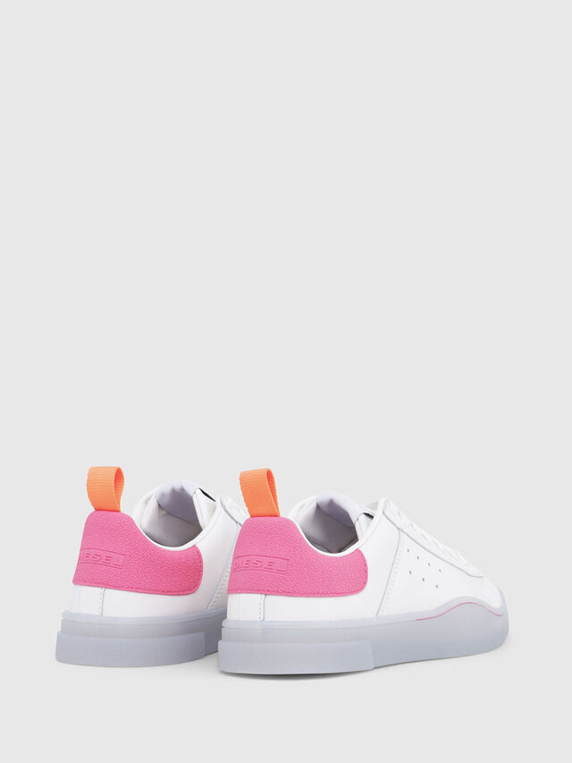 Diesel - S-CLEVER LOW W, White/Pink - Sneakers - Image 3