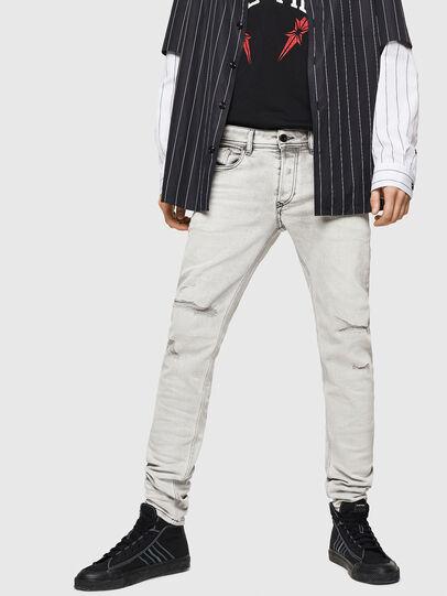 Diesel - Sleenker 0090F, Light Grey - Jeans - Image 4