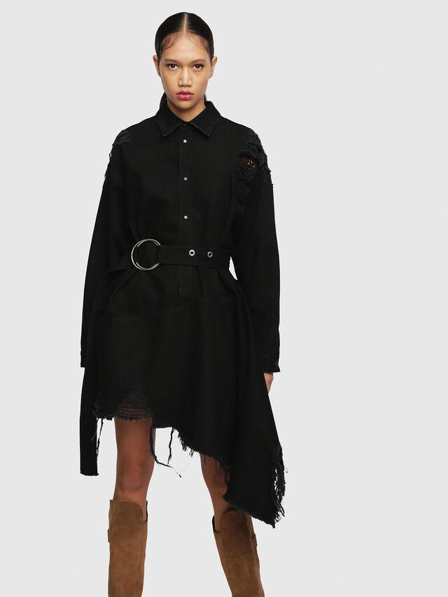 Diesel - DE-PEONY, Black - Dresses - Image 1