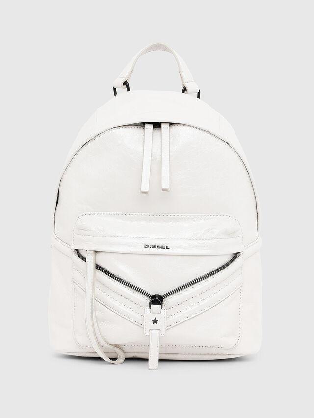 Diesel - LE-ZIPPER BACKPACK, White - Backpacks - Image 1