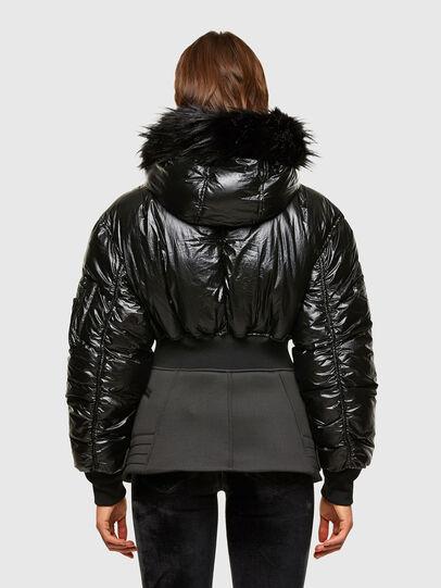 Diesel - W-ISOKE-SHINY, Black - Winter Jackets - Image 2