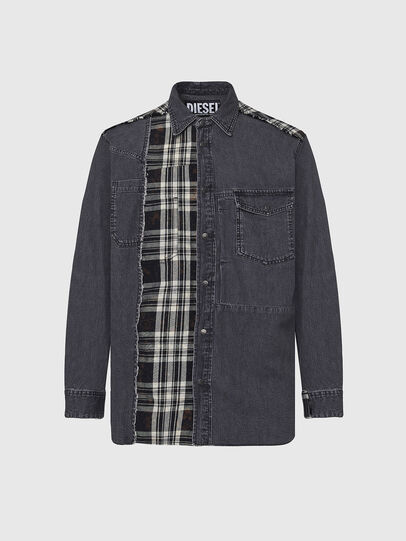 Diesel - D-FINLY, Dark grey - Denim Shirts - Image 1