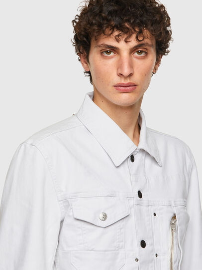 Diesel - D-COSNIL-SP, White - Denim Jackets - Image 4