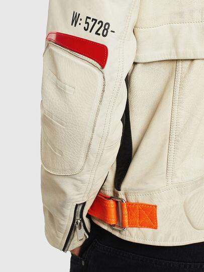 Diesel - L-DIXON, White - Leather jackets - Image 5