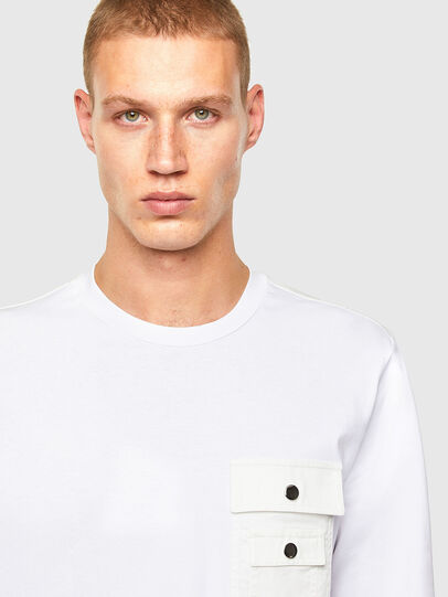 Diesel - T-TASK-LS, White - T-Shirts - Image 3