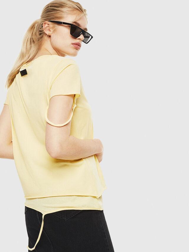 Diesel - T-EMIKO-C, Light Yellow - T-Shirts - Image 2