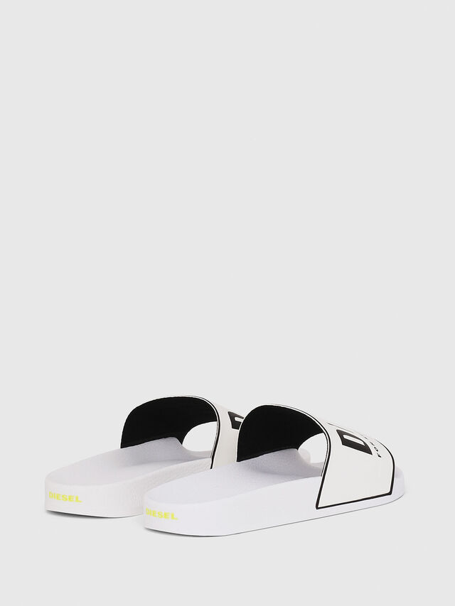 Diesel - SA-VALLA W, White/Black - Slippers - Image 3