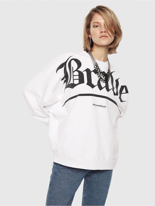 Diesel - F-YOSHIOR-Y1-FL, White/Black - Sweaters - Image 1