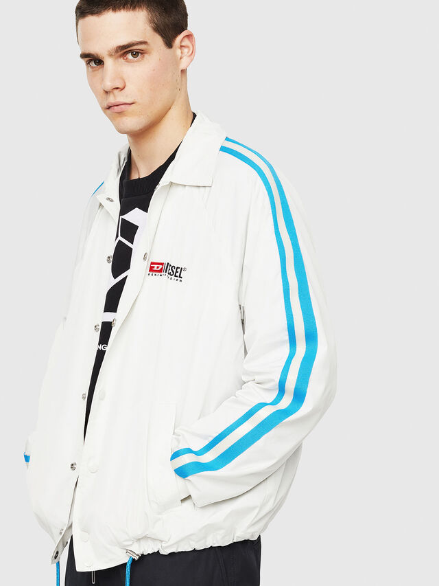 Diesel - J-AKITO, White/Blue - Jackets - Image 4