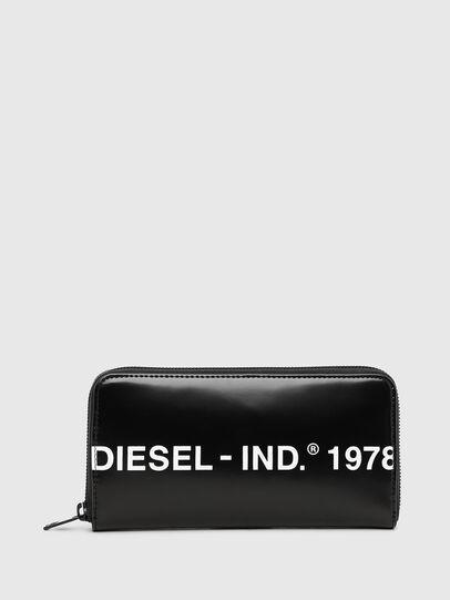 Diesel - 24 ZIP, Black - Zip-Round Wallets - Image 1