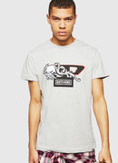 PS-T-DIEGO-OCTOSKULL, Light Grey - T-Shirts