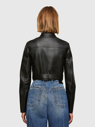 Diesel - L-MIMYY, Black - Leather jackets - Image 2