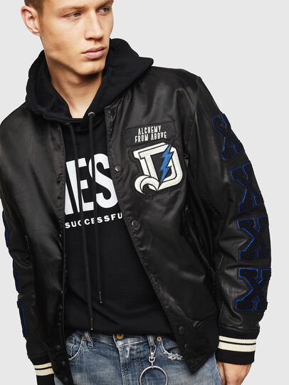 Diesel - L-KHARKOV, Black - Leather jackets - Image 7