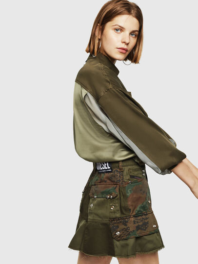 Diesel - O-AMATA, Green Camouflage - Skirts - Image 6