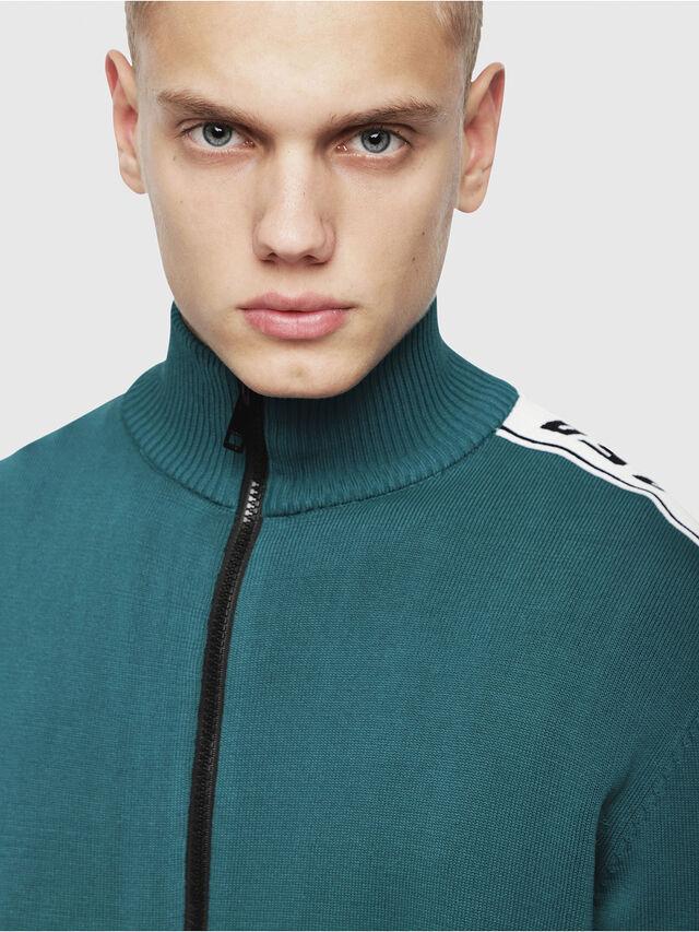 Diesel - K-KER-A, Dark Green - Knitwear - Image 4