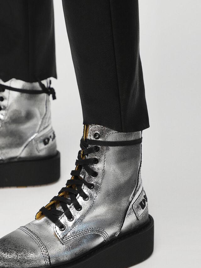 Diesel - L-TIME-A, Black Leather - Pants - Image 3