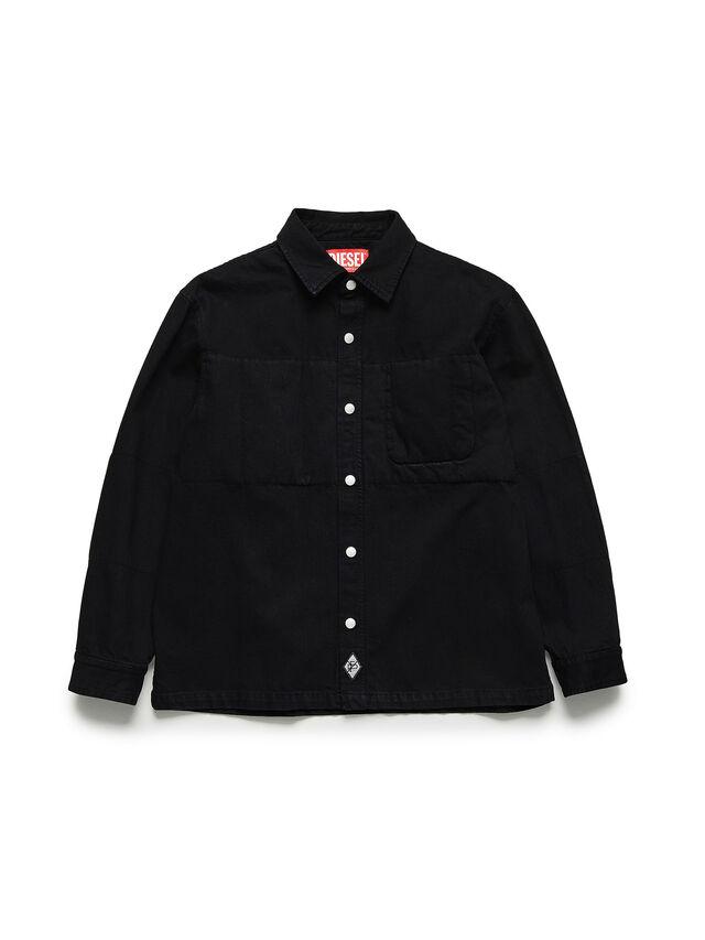 Diesel - GR02-B301, Black - Denim Shirts - Image 1