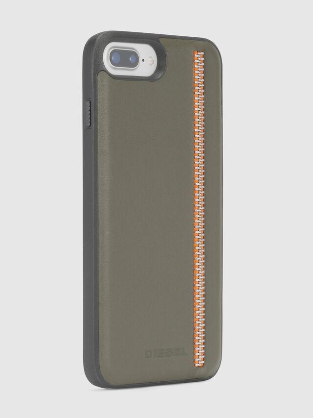 Diesel - ZIP OLIVE LEATHER IPHONE 8 PLUS/7 PLUS/6s PLUS/6 PLUS CASE, Olive Green - Cases - Image 6