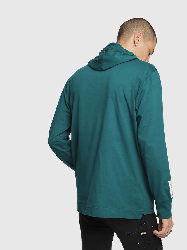 Diesel - T-FONTY-YB, Dark Green - T-Shirts - Image 2