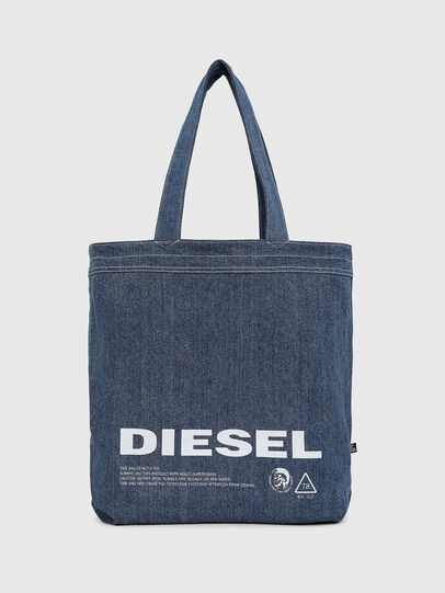 Diesel - F-THISBAG SHOPPER NS, White/Blue - Shopping and Shoulder Bags - Image 3
