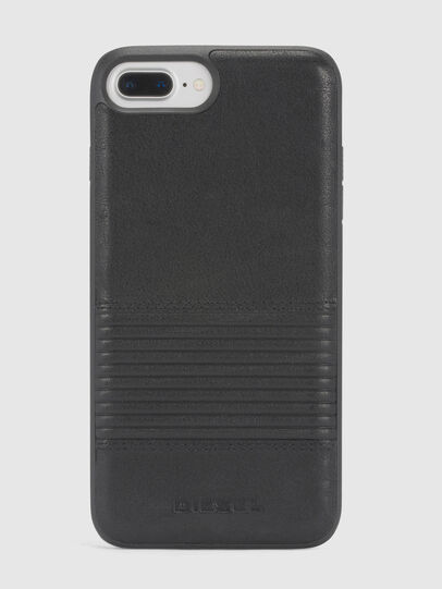 Diesel - BLACK LINED LEATHER IPHONE 8/7/6s/6 CASE, Black - Cases - Image 2