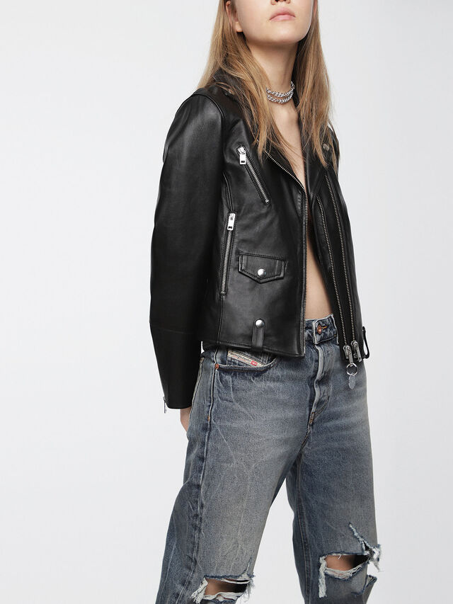 Diesel - L-LYF, Black Leather - Leather jackets - Image 3