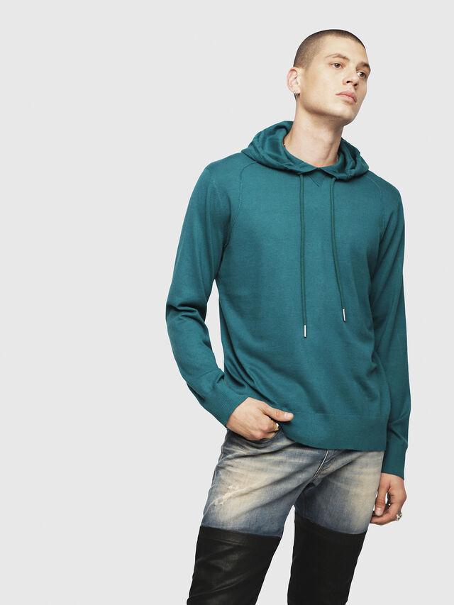 Diesel - K-MAXS, Dark Green - Knitwear - Image 1