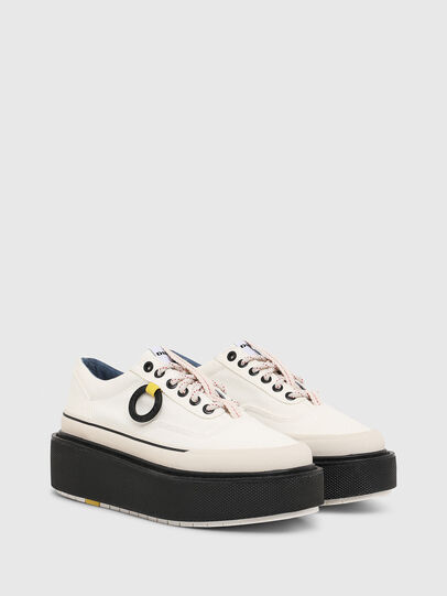 Diesel - H-SCIROCCO LOW, White/Pink - Sneakers - Image 2