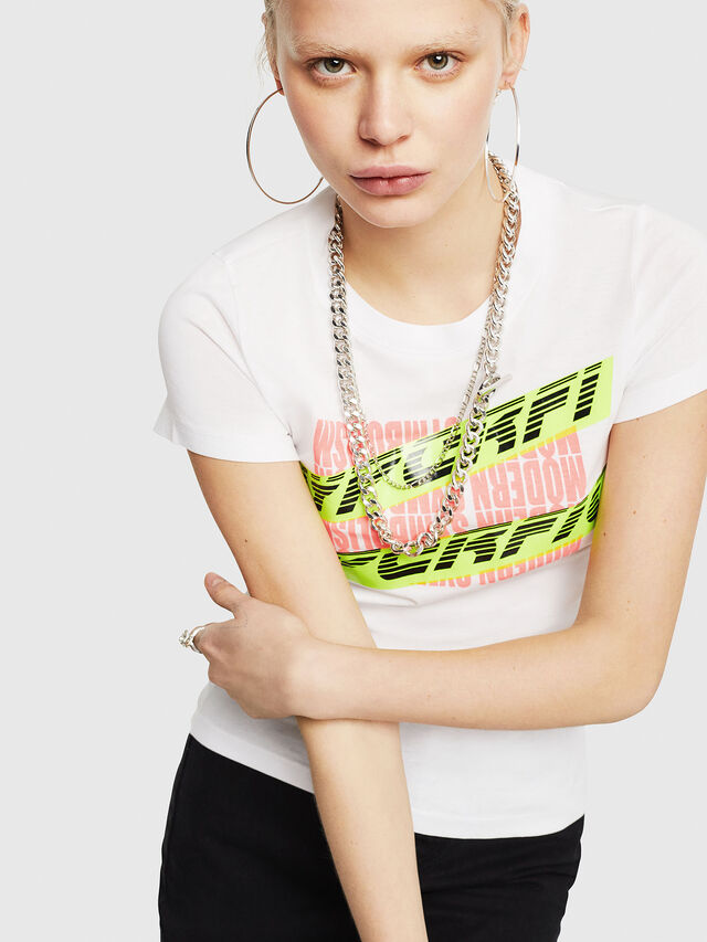 Diesel - T-SUPERY-C, White - T-Shirts - Image 4