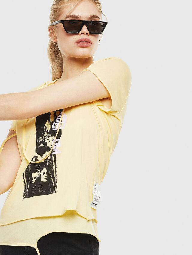 Diesel - T-EMIKO-C, Light Yellow - T-Shirts - Image 3