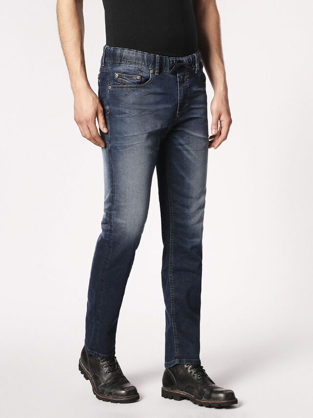 Diesel Waykee JoggJeans 0683Y, Dark Blue - Jeans - Image 6
